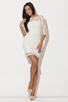 Romantyczna sukienka mini z miękka koronką