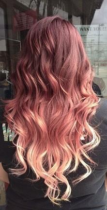 truskawkowy blond ombre