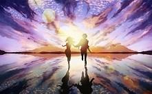 miłość to... podążanie w tym samym kierunku miłość to... patrzenie sobie w oc...