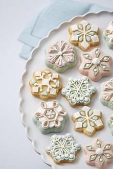 Forma vintage do ciasteczek w kształcie śnieżynek (12 gniazd)