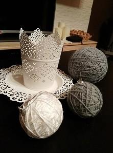 moje autorskie bombki na choinkę inspirowane cotton balls ( :
