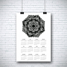 Kalendarz z mandalą na 2016