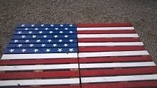 flaga amerykańska z-eco. St...