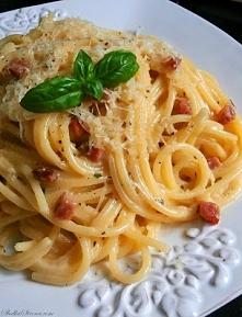 Spaghetti Carbonara z Szynką przepis