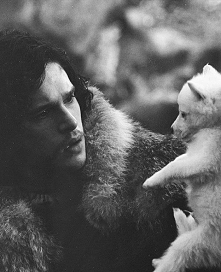 Jon Snow i Ghost :D