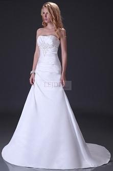 Skromna suknia ślubna 2 kolory : ecru, biały