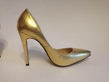 Szpileczki GOLD SNAKE! Mega modne idealne na studniówkę :)