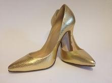 Szpileczki GOLD SNAKE! Mega modne idealne na studniówkę.