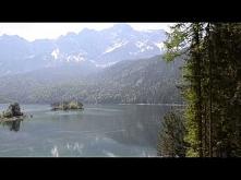 Alpy i jezioro Eibsee