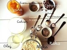 Składniki na najlepsze bezglutenowe i wegańskie pierniczki z kawałkami czekolady. Przepis po kliknięciu w zdjęcie.
