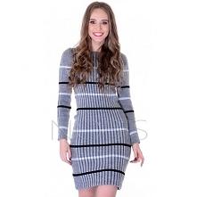 Sukienka w pasy NOBIS.com.pl