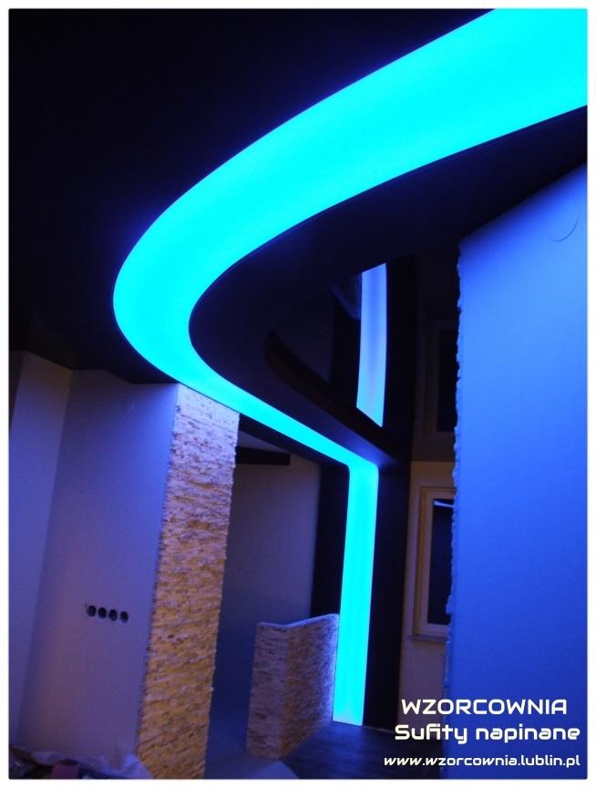Linia świetlna Sufit Napinany Transparentny Oświetlenie