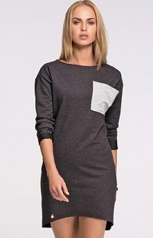 Makadamia M274 sukienka grafit Stylowa sukienka, wykonana z wysokiej jakości ...