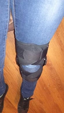 Już pamiętam czemu nie lubię Ortopedy...   Orteza+ zakaz obciążania kolana przez 3 tygodnie:( wyczuwam spadek formy