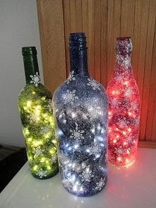 świąteczne butelki