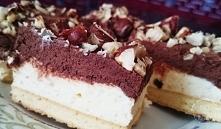Krem czekoladowo-mleczny na biszkopcie! pyszne ciasto z orzechami laskowymi! Polecam pinchofkitchen.pl