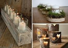 naturalne świeczniki