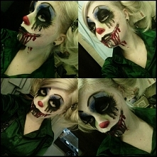 Stylizacja na halloween - zły klaun c: