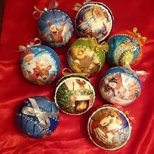 Mała kolekcja bombki decoupage ;-)