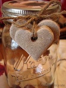 cynamonowe serca z masy solnej