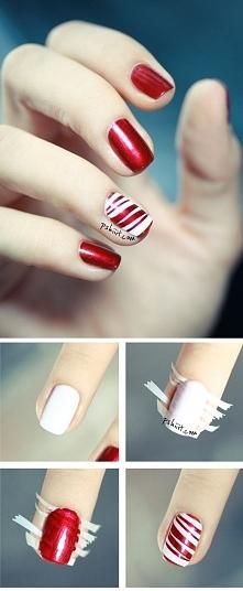Prosty manicure w świąteczn...