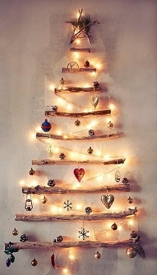 Oryginalny pomysł na świąteczną choinkę :)