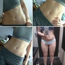 Postanowiłam się pochwalić moimi efektami pracy nad sobą. ;-) Wiem, że jeszcze nie jest mega super ale początki już są. W sierpniu ważyłam 57kg, od tego czasu schudłam pełne 6kg...