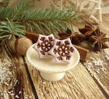 Słodkie świąteczne kolczyki