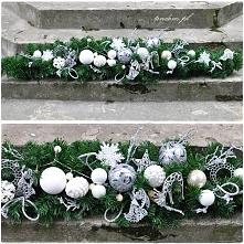 świąteczna girlanda w bieli - ze sklepu tendom.pl