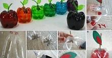 OWOCOWE POJEMNIKI Z PUSTYCH PLASTIKOWYCH BUTELEK - BĘDĄ CIEKAWĄ OZDOBĄ TWOJEJ KUCHNI :)