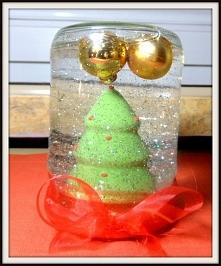 Śnieżna kula (sł0ik) zrobiona w domu :) A instrukcja jak ją zrobić po kliknięciu w zdjęcie :)