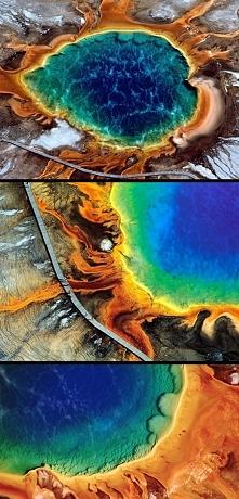 Grand Prismatic Spring  największe gorące źródła w Parku Narodowym Yellowston...