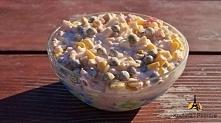 Sałatka ryżowa Dziś mam dla Was sałatkę ryżową, jak zawsze prostą i szybką w ...