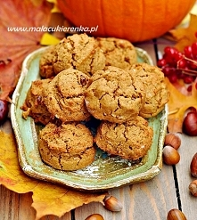 Ciasteczka z dynią, wegańskie bez glutenu. Przepis po kliknięciu w zdjęcie.
