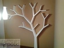 Półka drzewo 210x210x18cm Nasza realizacja Koszt od 1 000zł