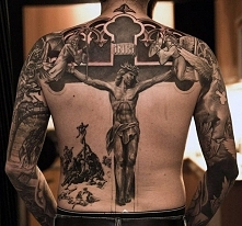 tatuaże religijne Chrystus ukrzyżowany