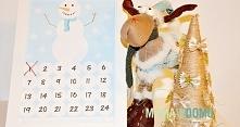 Kalendarz adwentowy do wydrukowania. Na blogu również w wersji z choinką.