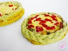 Zielone pizzerinki z warkoczami