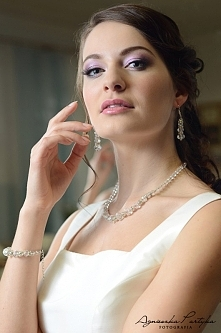 Artystyczna biżuteria ślubna - komplet z kolekcji Decoris & Art, wykonany...