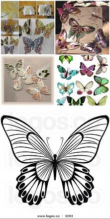 a może motylki z plastikowy...