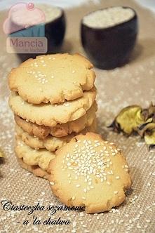 ciasteczka chałwowe z tahini