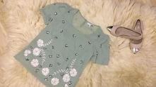 Miętowa bluzeczka NEXT, rozmiar 38 / M. Idealna na Sylwestra:)