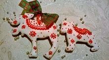 Piernikowe ozdoby na choinkę. Idealne także jako dekoracja gwiazdkowa, czy maly prezent gwiazdkowy.