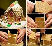krakersowy domek świąteczny :)