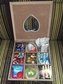 Prezent dla NOWOŻEŃCÓW♥♥♥ Pudełko pełnie niespodzianek to prawdziwy PREZENT od SERCA♥♥♥ Prawdziwa kreatywna niespodzianka :)