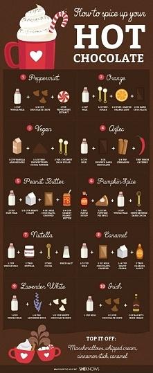 Gorącaaa CZEKOLADA... Zobacz ile różnych smaków możesz PRZYGOTOWAĆ :) 7 najlepsza :)
