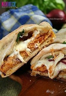 Chlebek imprezowy z kurczakiem i sosem barbecue...PYSZNOŚCI!!! Składniki na d...