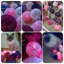 DIY, moje pierwsze cotton balls light