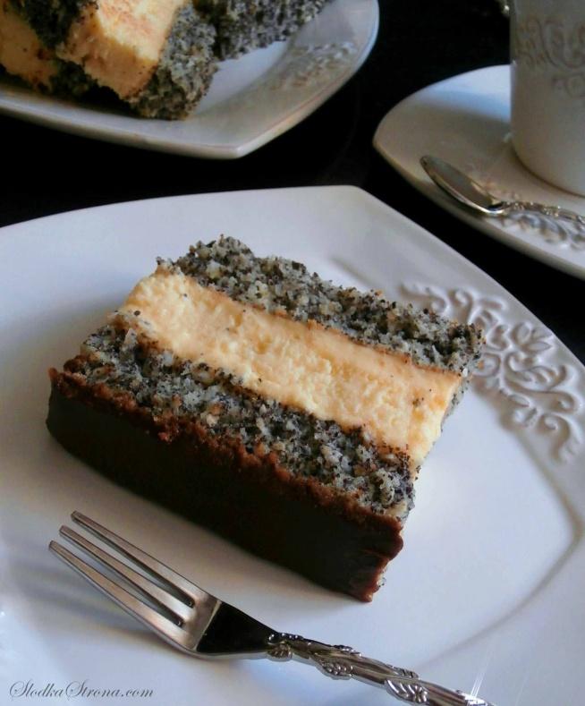 Ciasto Makowo-Kokosowe z Warstwą Sernikową i Masą Budyniową