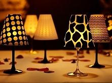 DIY małe lampki na stolik